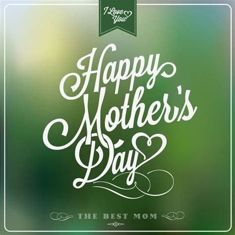 happy mother s day 2013 beautiful cards vector images typography