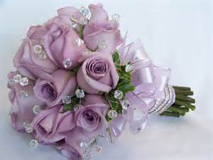 Purple Rose Bouquet Wedding Flowers