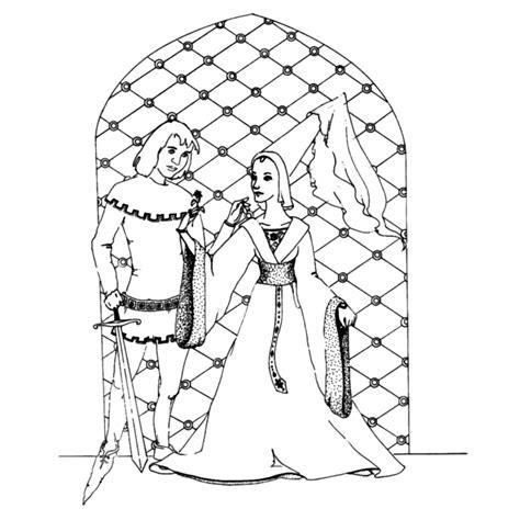 Kleurplaat Ridder En Jonkvrouw by Leuk Voor Ridder En Jonkvrouw