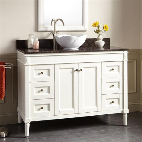 white vessel sink vanity stunning 48 quot chapman vessel sink vanity white bathroom vanities