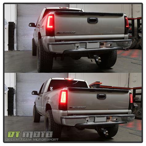 1996 chevy silverado tail lights 2003 2006 chevy silverado 1500 2500hd 3500 black led tail