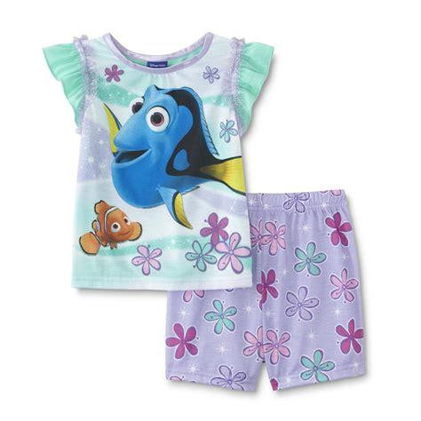 Disney Finding Nemo Infant & Toddler Girl's Pajama Top ...