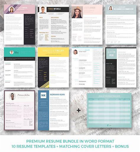 28 minimal creative resume templates psd word ai