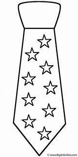 Coloring Neck Tie Ties Father Pages Fathers Happy Shirt Stars Pattern Template Clothing Crochet Necktie Printable Bow Bigactivities Templates Star sketch template
