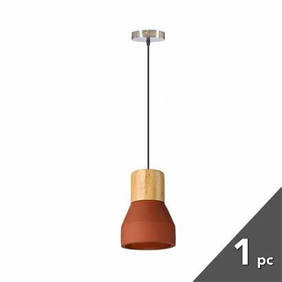 Pendant Concrete Timber Cement Modern Nordic Wooden