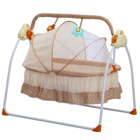baby electric swing electric baby crib cradle infant rocker auto swing bed