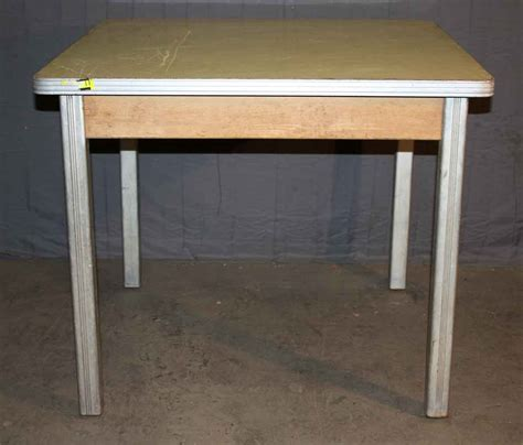 kitchen island legs 1940s small dining table with brushed aluminum legs olde 1940