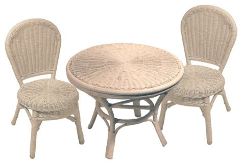 childrens wicker table and chairs round wicker children 39 s table and chairs set tropical