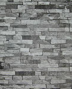 tapete schwarz grau tapete steinoptik steinwand bruchsteine steintapete schwarz grau 05546 30 ebay