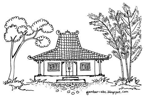 Gambar Kartun Rumah Adat Jawa Timur Gambar Mewarnai Rumah Adat