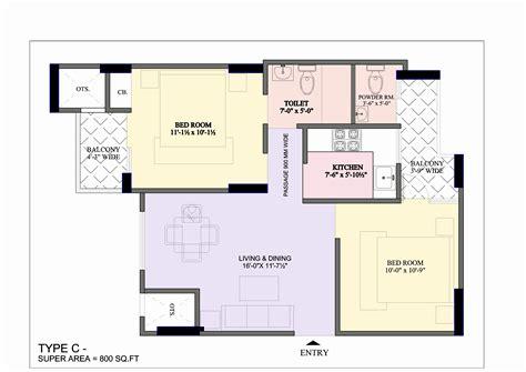 Home Design 2bhk : 2 Bhk House Plan
