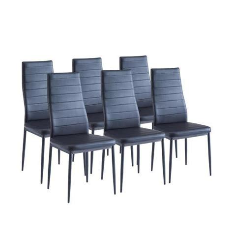 lot 6 chaises noires sam lot de 6 chaises de salle à manger noires achat