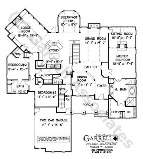 ponderosa house plan  house plans floor plans   plan