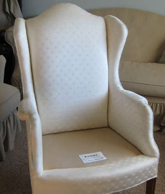 wingback chair slipcover linen white linen chair before and after slipcovers by shelley