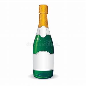 champagne bottle with blank label for your text stock With champagne bottle label template