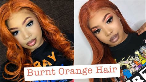 How To Dye Hair Burnt Orange Slaybyciara Youtube