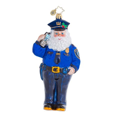 radko ornaments charity law enforcement police christmas