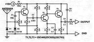 Car Antenna Amplifier Circuit Schematic
