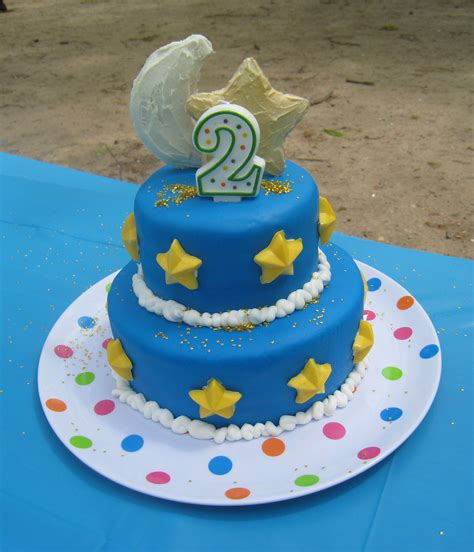 birthday cakes moon and stars 2nd birthday cake thinker mommy