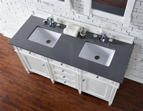 contemporary 60 inch sink bathroom vanity cottage white finish no top