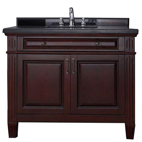 granite top vanity carsen 42 in vanity in chocolate with granite vanity top