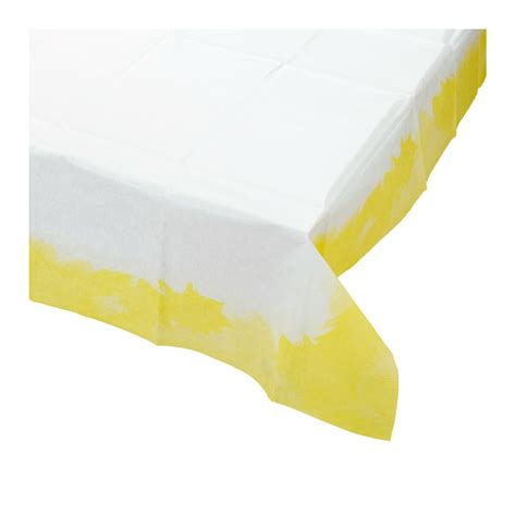 d 233 coration de table nappe papier tie and dye jaune