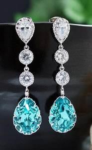 Light Turquoise Wedding Earrings - Fashion