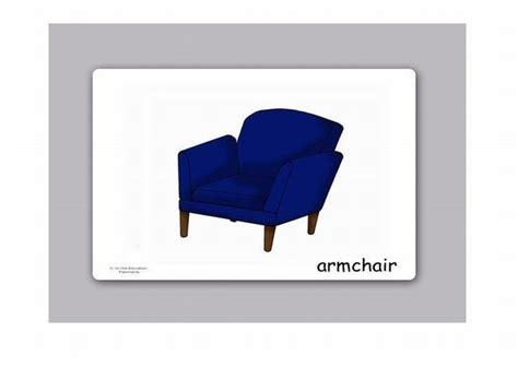 living room  furniture flash cards  kids