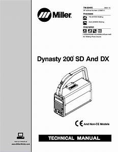Miller Dynasty 200sd Dx Technical