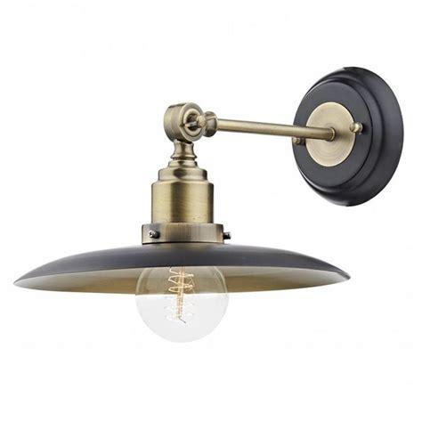industrial wall light antique brass black lightbox
