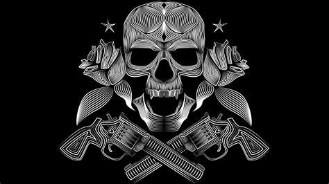 2560x1440 Skull Gun N Roses 8k 1440P Resolution HD 4k