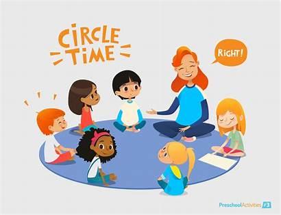 Teacher Kindergarten Preschool Listen Talk During Circle