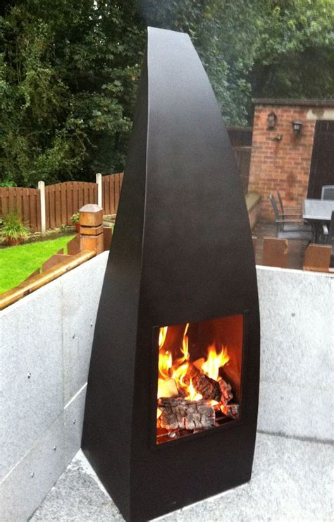 Large Chiminea by Large Chiminea Plate Steel Landscapes Exterior