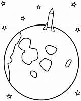 Moon Coloring Pages Rocket Space Landing Crescent Template Print Rockets Printable Drawing Stars Moons Sun Drawings 06kb 800px Half sketch template