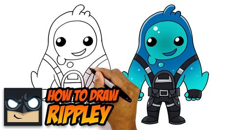 draw rippley  fortnite season  skin youtube