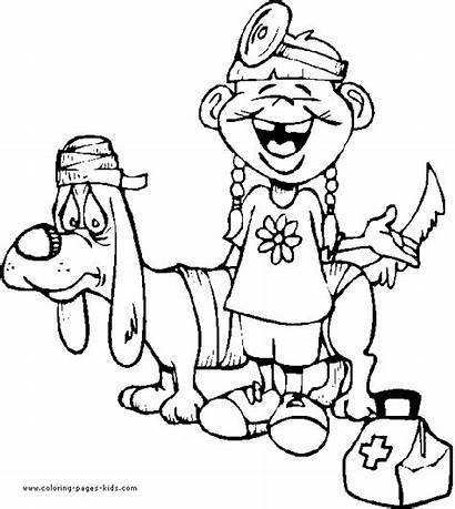 Coloring Pages Doctor Hospital Jobs Doctors Printable