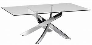 Table Basse Verre Et Acier : table basse carr e acier inoxydable et verre tremp gala ~ Teatrodelosmanantiales.com Idées de Décoration