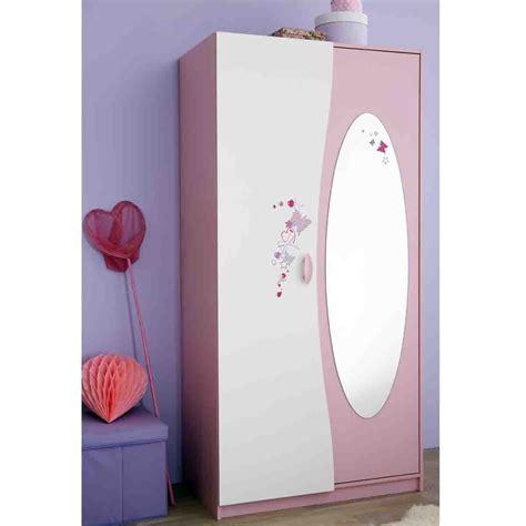rangement vaisselle cuisine armoire 2 portes avec penderie et miroir papillon dya