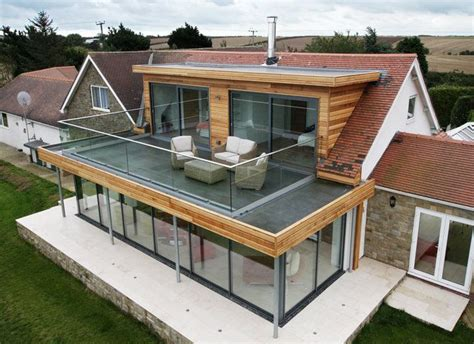 Roofed Balcony by Flat Roof Extension With Balcony Google Search Roof