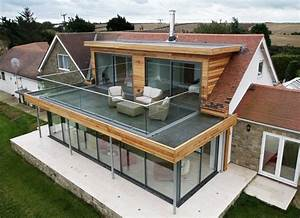 flat roof extension with balcony google search With google vue des maisons 0 la veranda illumine les interieurs floriane lemarie