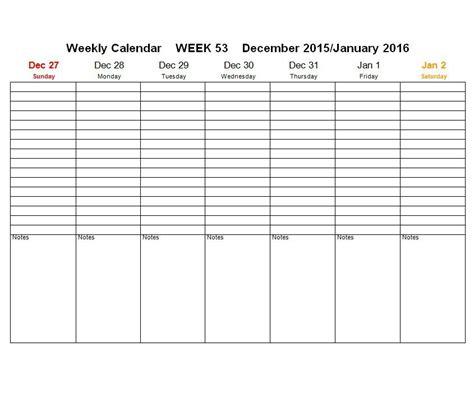 weekly template 26 blank weekly calendar templates pdf excel word template lab