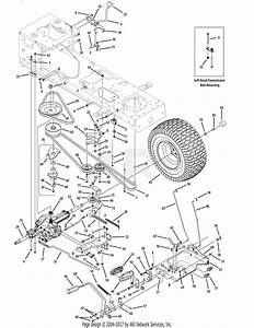 Troy Bilt 13ax60kh066 Super Bronco  2009  Parts Diagram For Drive System