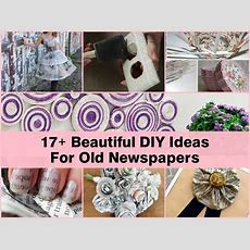 17+ Beautiful Diy Ideas For Old Newspapers