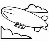 Coloring Blimp Airship Pages Hindenburg Template Airships Zeppelin Steampunk sketch template