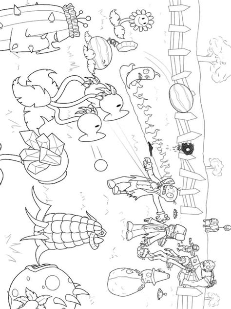 plants  zombies coloring pages  printable plants