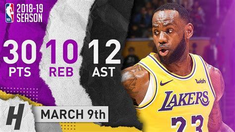 LeBron James Triple-Double Highlights Lakers vs Celtics ...