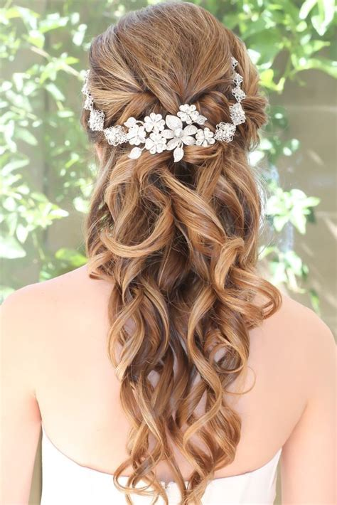 Half Updo Wedding Hairstyles by 34 Beautiful Wedding Hairstyles With Curls Weddingomania