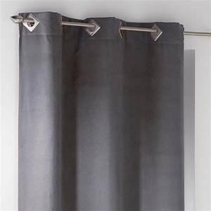 Rideau Gris Anthracite : rideau tamisant 140 x 240 cm su de gris anthracite rideau tamisant eminza ~ Teatrodelosmanantiales.com Idées de Décoration