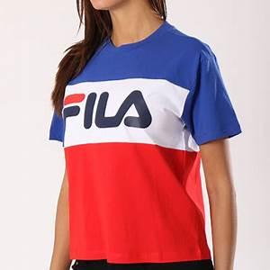 T Shirt Bleu Blanc Rouge : fila tee shirt femme allison 682125 bleu roi blanc rouge ~ Nature-et-papiers.com Idées de Décoration