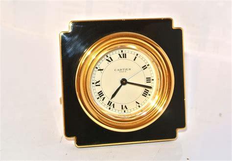 reveil de bureau cartier pendulette de voyage r 201 veil horloge de bureau